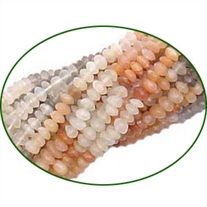 Fine Quality Mutli Moonstone Plain Button, size: 4mm to 6mm