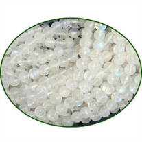 Fine Quality Rainbow Moonstone Plain Round, size: 4mm
