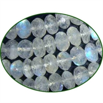 Fine Quality Rainbow Moonstone Faceted Roundel, size: 6mm to 7mm