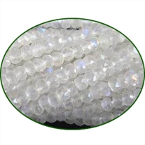 Fine Quality Rainbow Moonstone Faceted Roundel, size: 3mm to 3.5mm