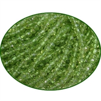 Fine Quality Peridot Faceted Roundel, size: 3.5mm to 4mm