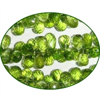 Fine Quality Peridot Faceted Briolette Drops, size: 7mm to 8mm