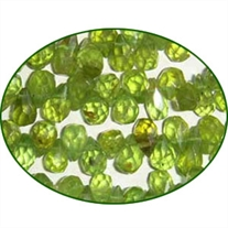 Fine Quality Peridot Faceted Handcut Drops, size: 5mm to 6mm