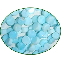 Fine Quality Peruvian Opal Plain Coin, size: 7mm to 8mm