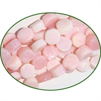 Fine Quality Pink Opal Plain Coin, size: 7mm to 8mm