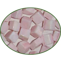 Fine Quality Pink Opal Plain Cube, size: 8mm to 10mm