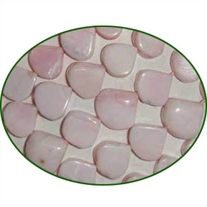 Fine Quality Pink Opal Plain Top Drill Heart, size: 8mm to 10mm