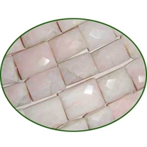Fine Quality Pink Opal Faceted Chicklet, size: 11x15mm to 13x18mm