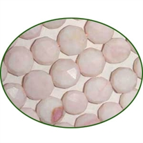 Fine Quality Pink Opal Faceted Coin, size: 9mm to 12mm