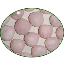Fine Quality Pink Opal Faceted Tear Drill Heart, size: 15mm to 18mm