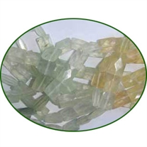 Fine Quality Prehnie Multi Faceted Chicklet, size: 5x7mm to 7x9mm