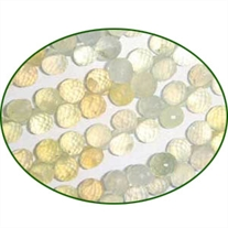 Fine Quality Prehnite Faceted Onion, size: 6x6mm to 7x7mm