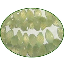 Fine Quality Prehnite Faceted Rice, size: 10mm to 15mm