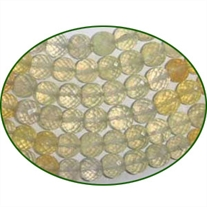 Fine Quality Prehnite Faceted Multi Round, size: 6mm to 8mm
