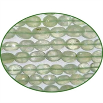 Fine Quality Prehnite Faceted Machine Cut Oval, size: 7x9mm to 8x10mm