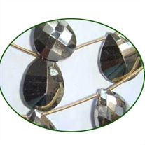 Fine Quality Pyrite Concave Cut Briolette, size: 15x17mm to 15x24mm