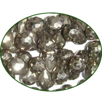 Fine Quality Pyrite Faceted Drops, size: 7mm to 8mm