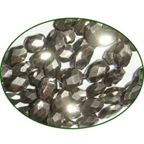 Fine Quality Pyrite Faceted Oval, size: 6x8mm to 7x9mm