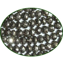 Fine Quality Pyrite Faceted Roundel, size: 5mm to 6mm