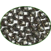 Fine Quality Pyrite Faceted Roundel, size: 6mm to 7mm