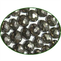 Fine Quality Pyrite Faceted Roundel, size: 8mm to 9mm