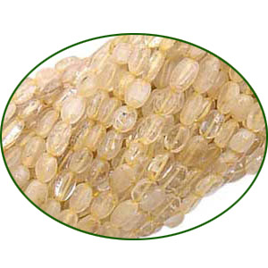 Fine Quality Golden Rutilated Oval, size: 6x8mm to 8x10mm