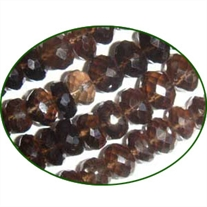 Fine Quality Smoky Topaz Faceted Roundel, size: 7mm to 8mm