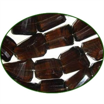 Fine Quality Smoky Topaz Laser Machine Cut Tumble, size: 15mm to 25mm