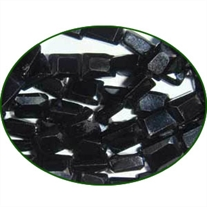 Fine Quality Black Spinal Faceted Flat Chicklet, size: 4x6mm to 5x7mm