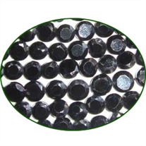 Fine Quality Black Spinal Faceted Flat Coin, size: 5mm to 5.5mm