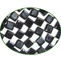 Fine Quality Black Spinal Faceted Flat Kite, size: 5mm to 5.5mm