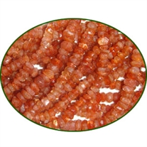 Fine Quality Sunstone Natural Faceted Roundel, size: 4mm to 4.5mm