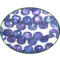 Fine Quality Tanzanite Faceted Hearts, size: 6mm to 7mm