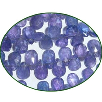 Fine Quality Tanzanite Faceted Pears, size: 4x6mm to 6x9mm