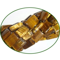 Fine Quality Tiger Eye Plain Chicklet, size: 8x10mm to 8x12mm