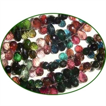Fine Quality Multi Tourmaline Faceted Drops, size: 5x7mm to 5x9mm