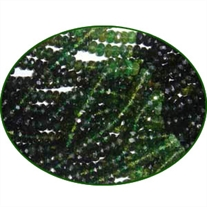 Fine Quality Chrome Tourmaline Faceted Roundel, size: 3.5mm to 4mm