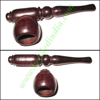 Handmade rosewood smoking pipe, size : 4 inch pipe