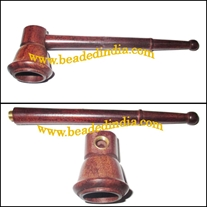 Handmade rosewood smoking pipe, size : 4 Inch