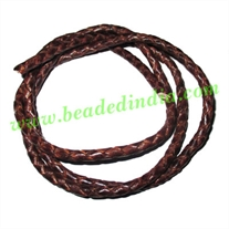 Leather Bolo Braided Hunter Cords, size: 4mm 4 ply.