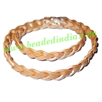 Leather Bolo Braided Hunter Cords, size: 10mm 3 ply.