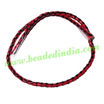 Leather Bolo Braided Hunter Cords, size: 3.5mm 4 ply.