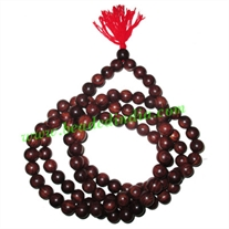 Rosewood handmade fine quality 14mm beads string (rosewood mala of 108 beads without knots)