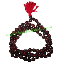 Rosewood handmade fine quality 9mm beads string (rosewood mala of 108 beads well knotted)