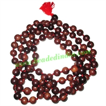 Rosewood handmade fine quality 20mm beads string (rosewood mala of 108 beads well knotted)