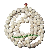 Real tulsi sacred-auspicious wood beads mala-string of 108 beads, size: 8mm perfect round