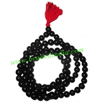 Real Ebony Wood Beads String (mala of 108 fine handmade 10mm round beads without knots)