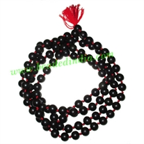 Real Ebony Wood Beads String (mala of 108 fine handmade 14mm round beads well knotted)