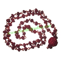 Natural Wooden Beads String (mala), size: 4x6mm