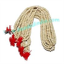 Natural Wooden Beads String (mala), color off white, size: 4mm